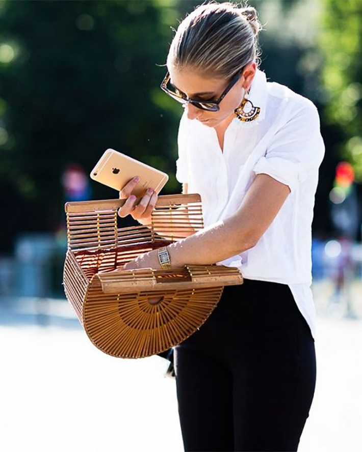 wicker bag street style outfits inspiration accessories fashion trend style summer 20179