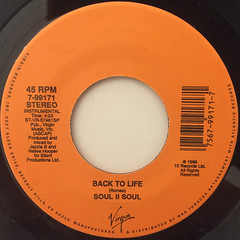 SOUL II SOUL:BACK TO LIFE(LABEL SIDE-B)
