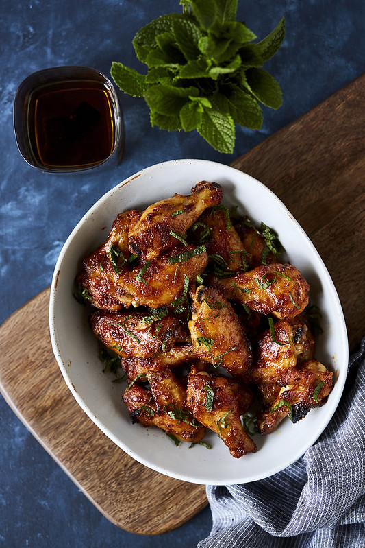 Maple Bourbon Glazed Chicken Wings
