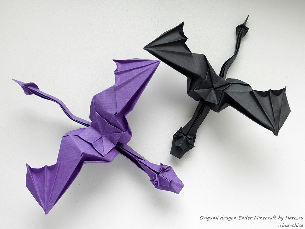 Origami Dragon Ender Minecraft By Hareru Origami Dragon E Flickr