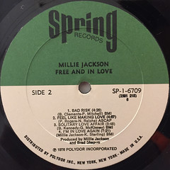 MILLIE JACKSON:FREE AND IN LOVE(LABEL SIDE-B)