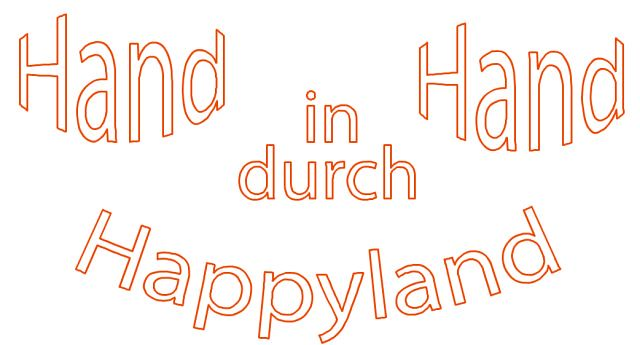 Folierung: Hand in Hand durch Happyland