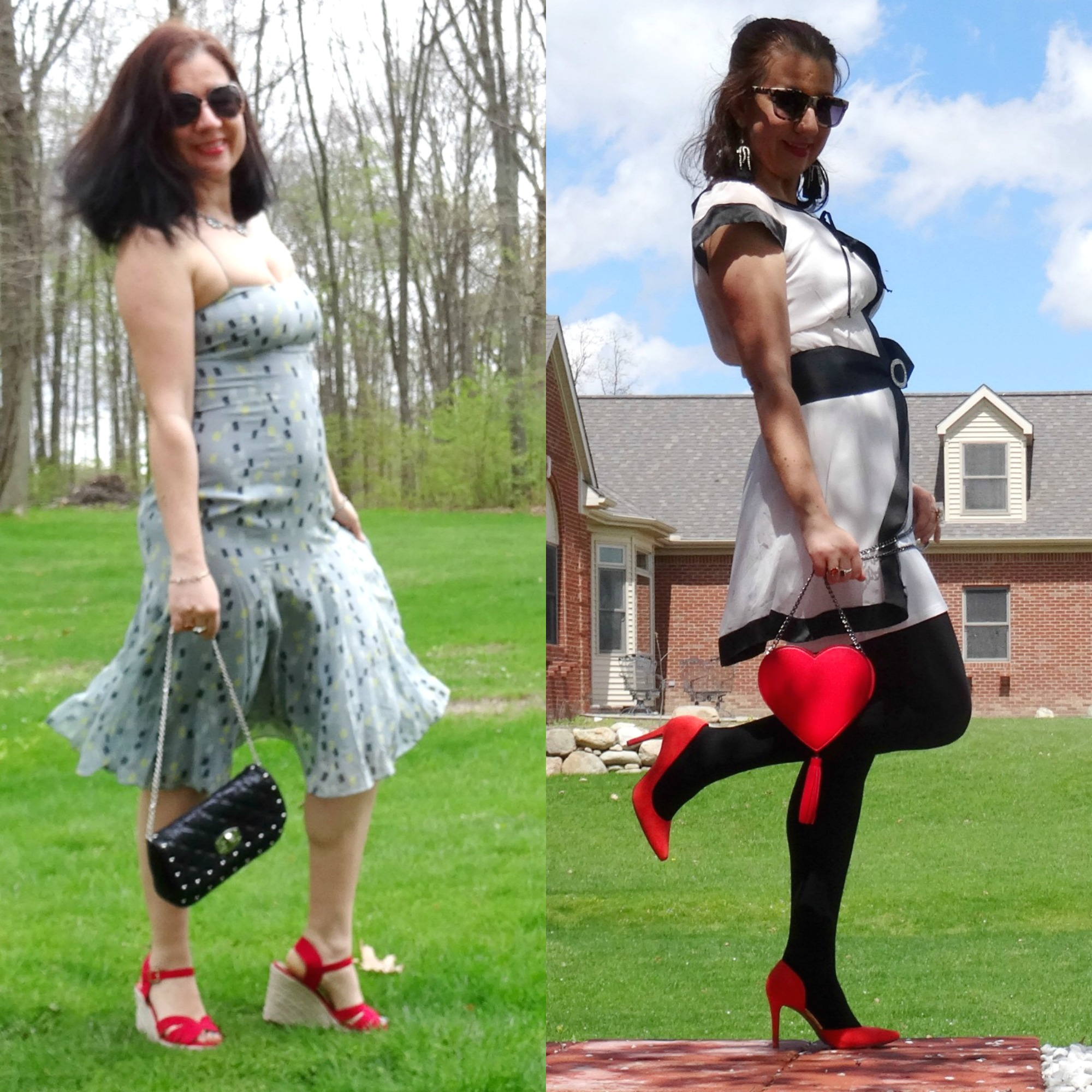 Ada  of Elegance & Mommyhood - Birthday Dresses with Red Shoes, Thursday Fashion Files Co-Host