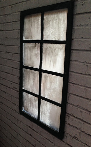 Weathered industrial window glass tutorial