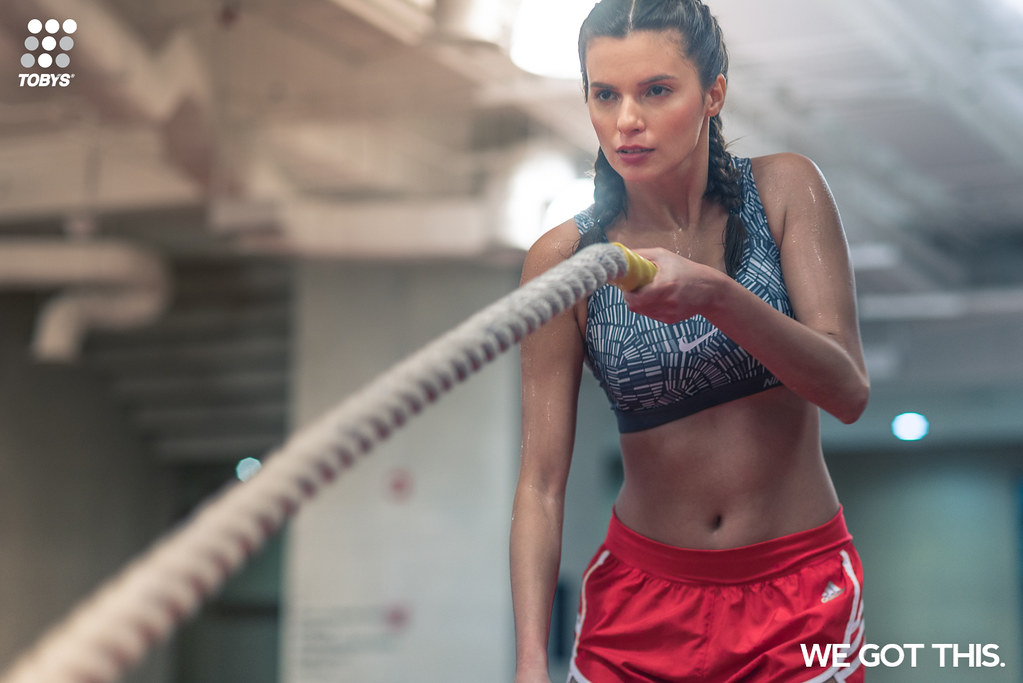 "With its new ""We Got This"" campaign, Toby's Sports encourages everyone to hold on to that rope a little tighter and not give up on their goals of achieving an active and healthy lifestyle."