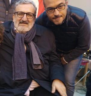 Giuseppe Gravinese e il governatore Michele Emiliano