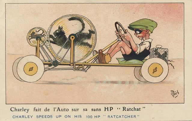 Illustrateur Mich postcard