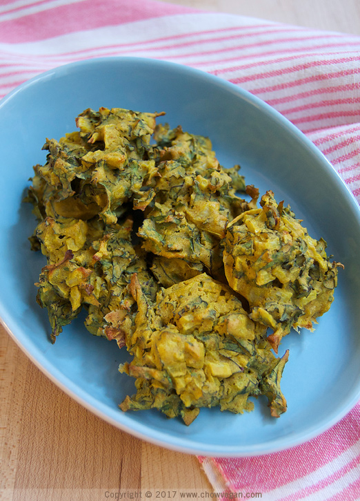 Easy Indian Fritters Baked Pakoda | Chow Vegan