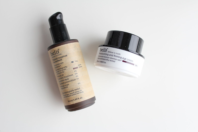 belif Classic Essence Increment and Moisturizing and Firming Eye Cream review