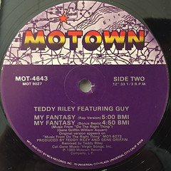 TEDDY RILEY featuring GUY:MY FANTASY(LABEL SIDE-B)