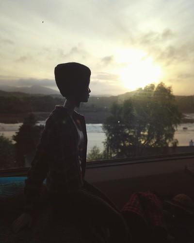 Sunset over Kippford . #barbiecustom #barbie #barbiecollector #sixthscale #dollphotography #playscale #fashiondollphotography #dollphotogallery #dollstagram #instadoll #maxandjuno #dollsofinstagram #doll #gaydolls #gaybarbiedoll #dollswithtattoos #barbie