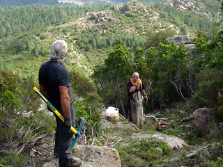 Entretien du sentier de montée de Ranuchjaghja : Michel, Tony