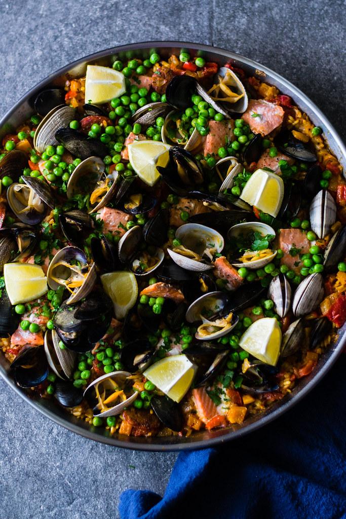 Seafood and Chorizo Paella