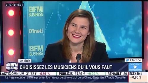 Audrey Barrières Culturevent invités sur BFM Business dans l'émission Tech&Co le 23 janvier 2017