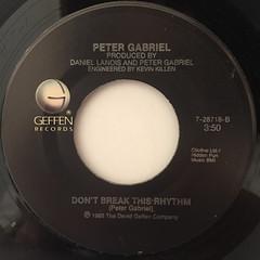 PETER GABRIEL:SLEDGEHAMMER(LABEL SIDE-B)