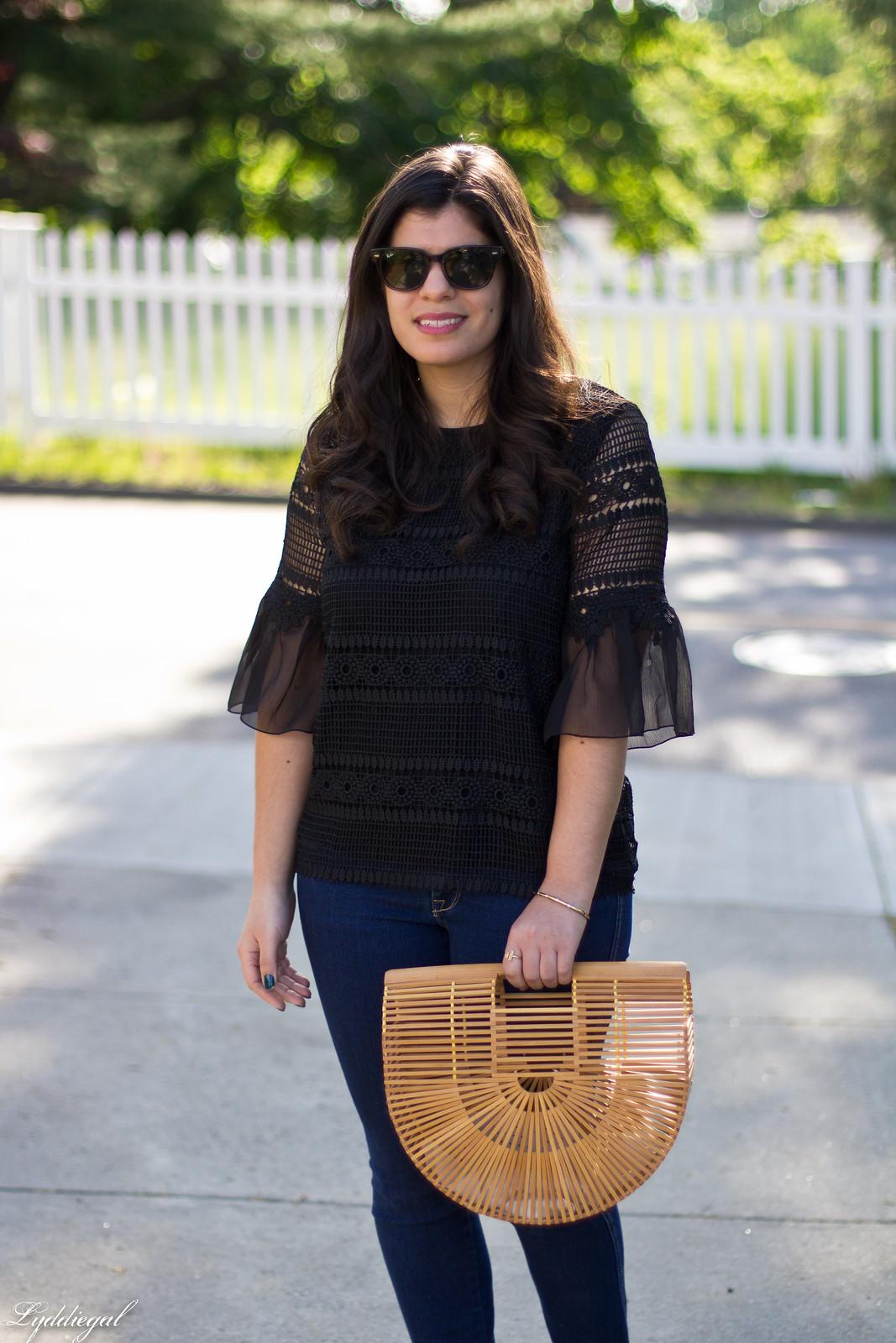 lace bell sleeve blouse, fringe hem jeans, bamboo bag-3.jpg
