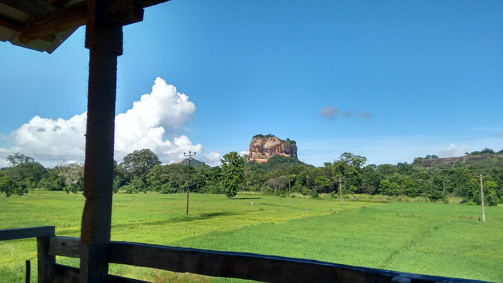 View of Lion Rock from nearby guest house
