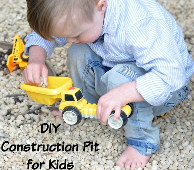 How to make a construction pit for kids - an easy and inexpensive DIY