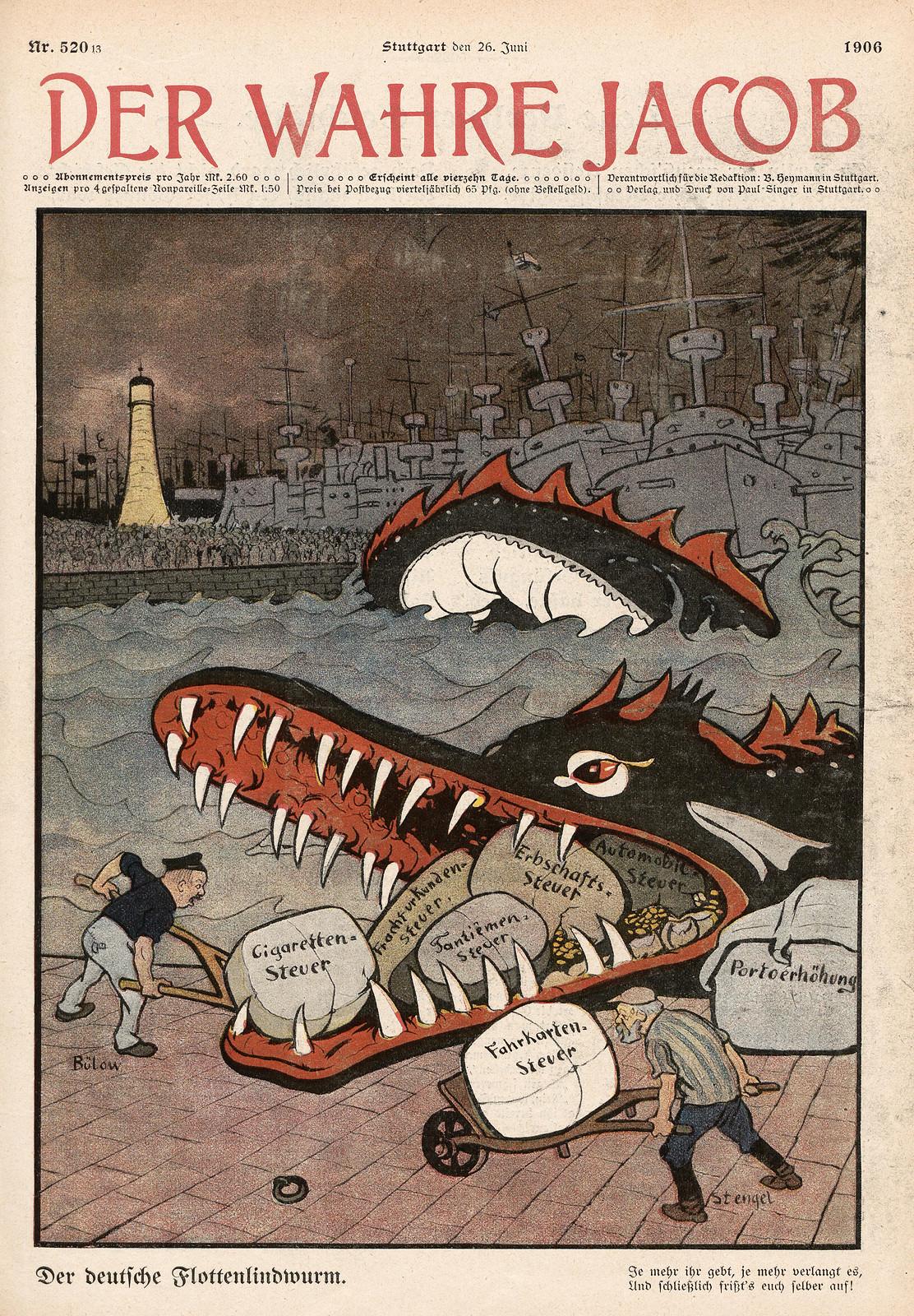 Unsigned - The German Fleet Lindwurm, 1906