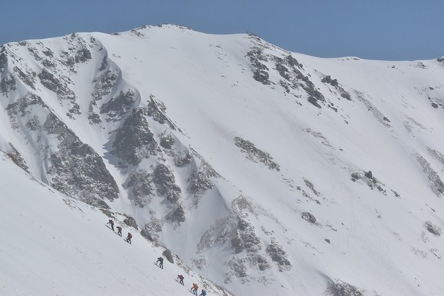雪の伊那前岳
