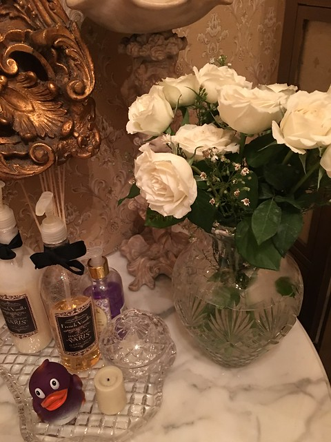 flowers for the powder room