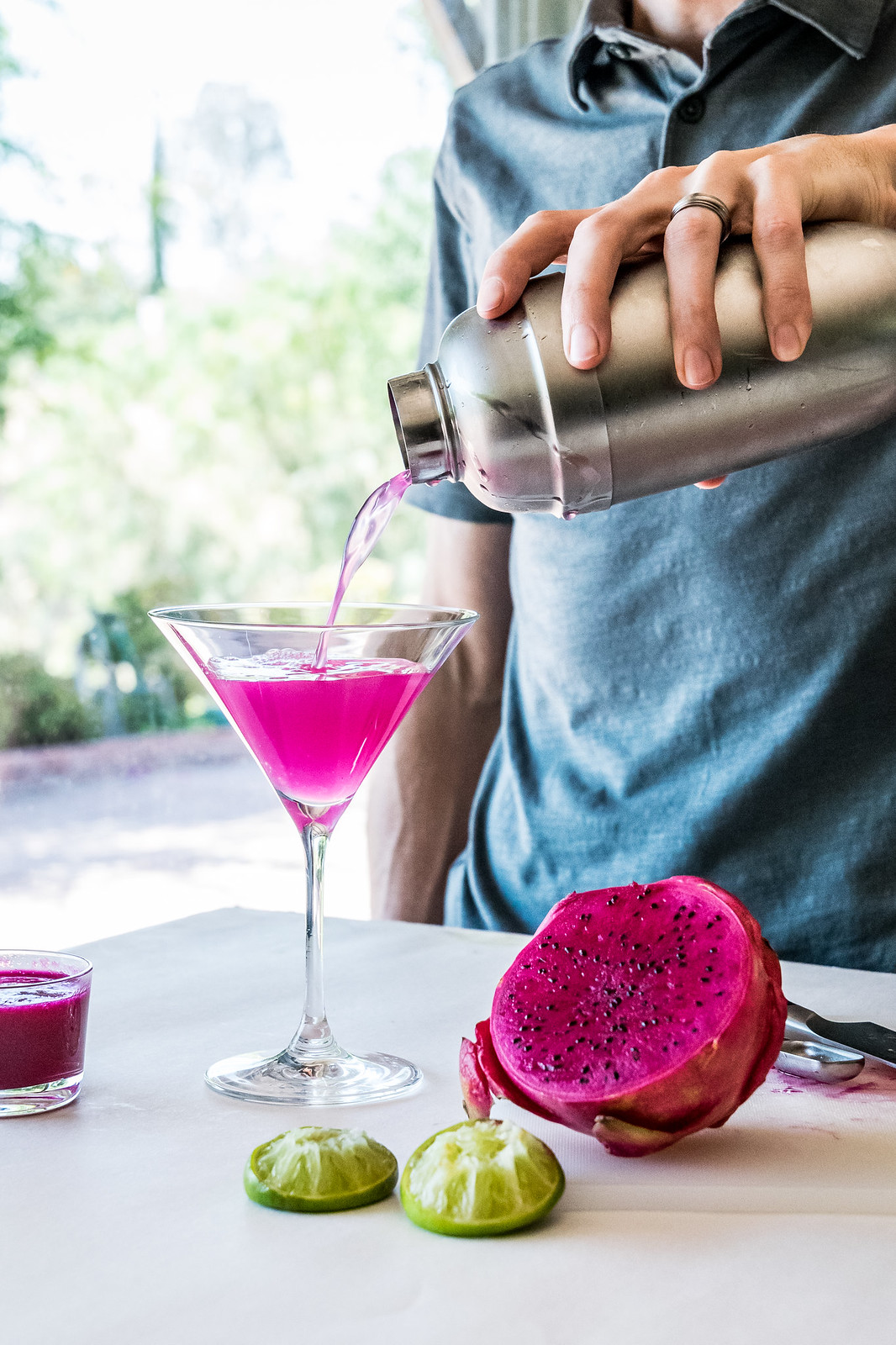sparkling dragon fruit margaritas