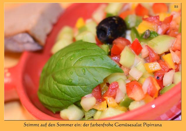 Gemüsesalat Pipirrana, eine Spezialität aus Málaga (Pipirrana malagueño) ... Foto: Brigitte Stolle, Mannheim 2017