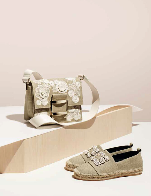 Roger Vivier, arpillera bolso y zapato
