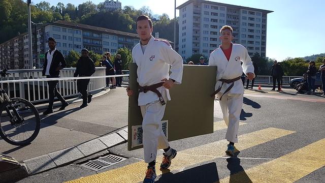Judo-Demo am Luzerner Stadtlauf