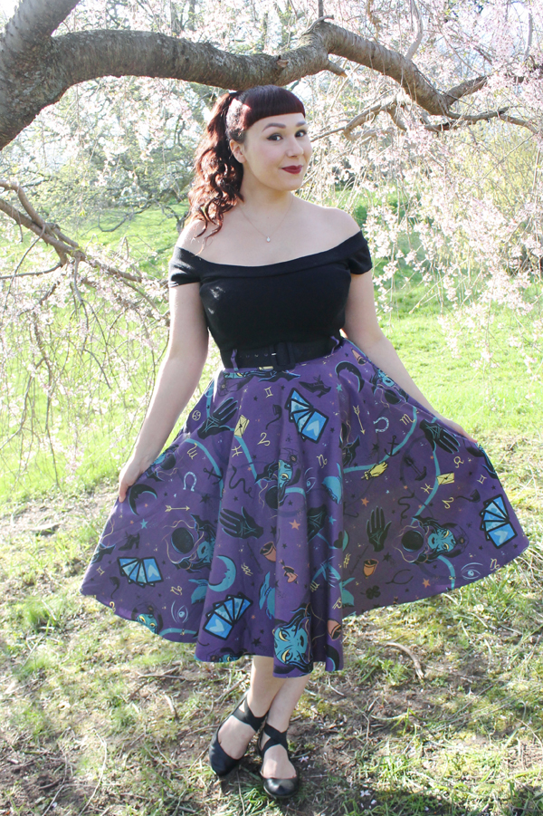 pinup couture fortune teller skirt