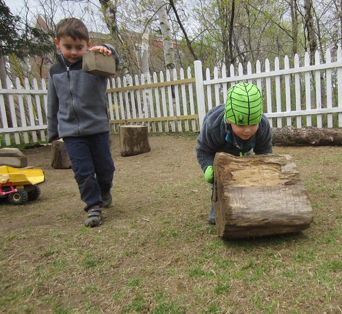 rolling the log