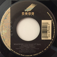 TONY! TONI! TONE!:WHATEVER YOU WANT(LABEL SIDE-A)