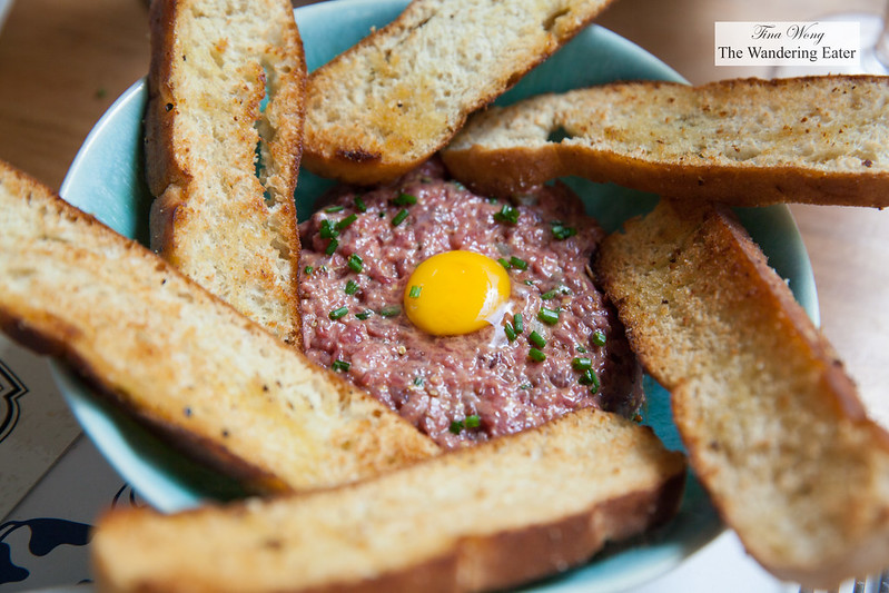Wagyu (from Chile) beef tartare with quail egg