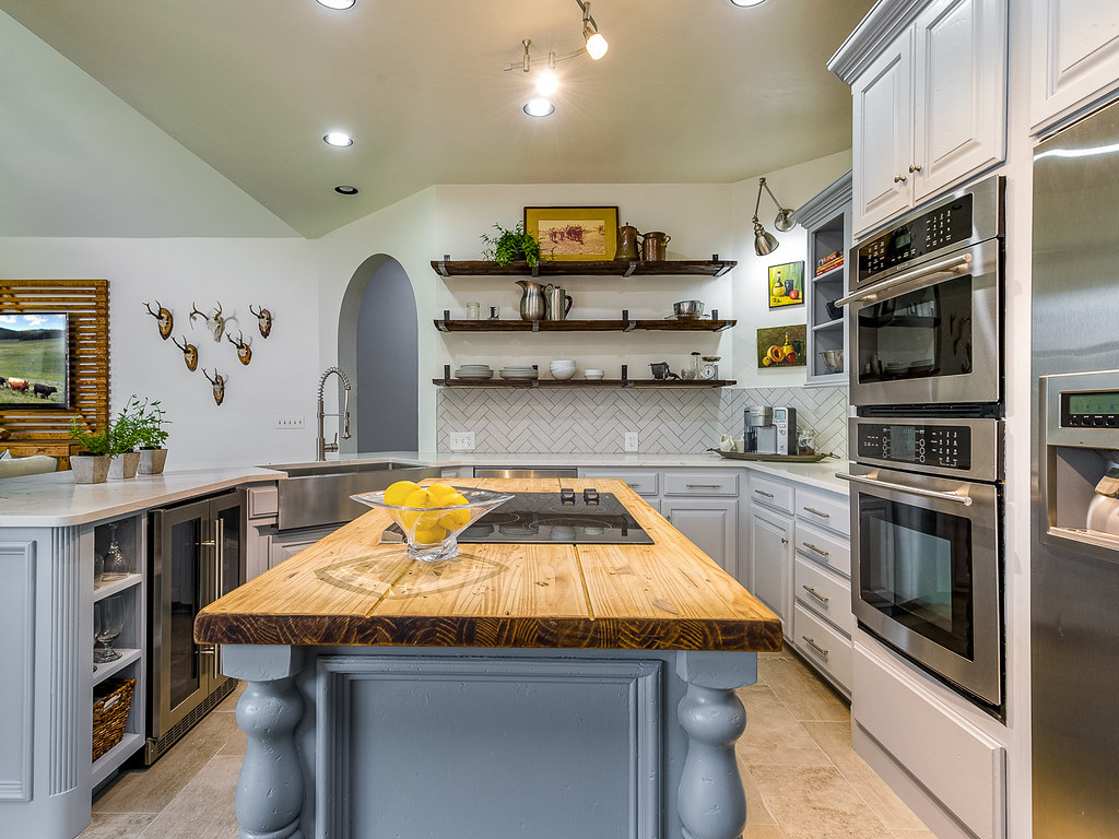Custom Kitchen Cabinetry In A Small Ranch Style Home Kitchen