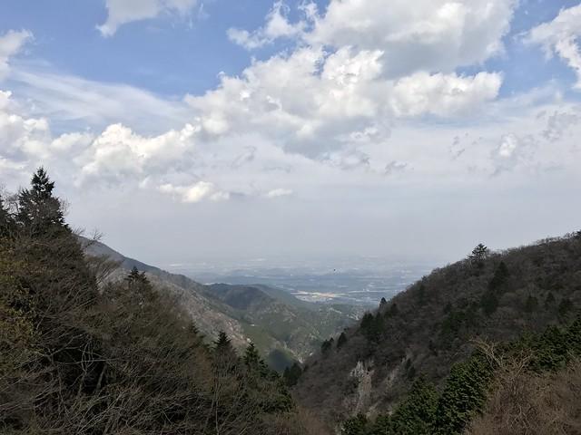 野登山 車道からの鈴鹿市方面の眺望