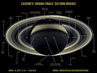 Cassini's 'Grand Finale' Saturn Portrait (Annotated Version) (April 13, 2017) | by ianr81