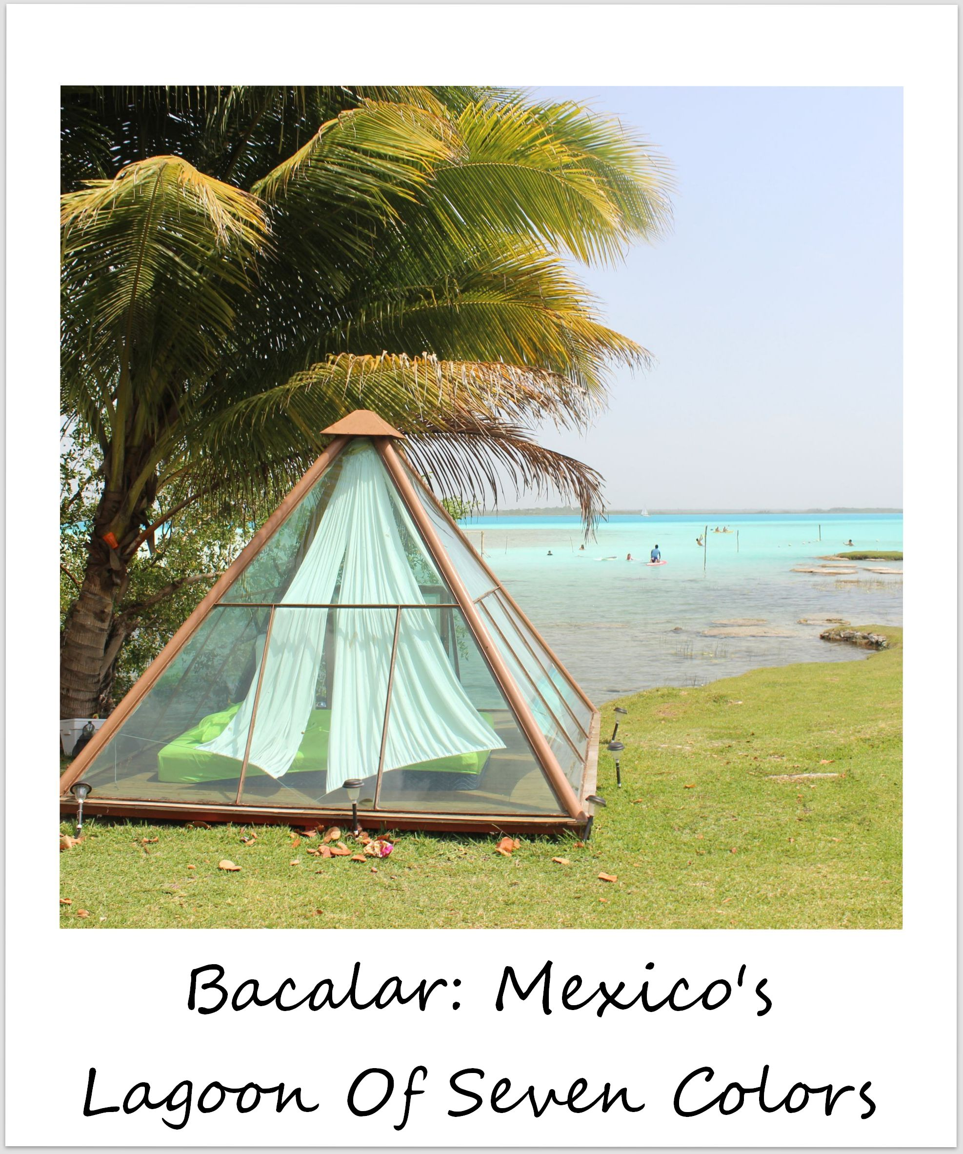 polaroid of the week mexico bacalar lagoon