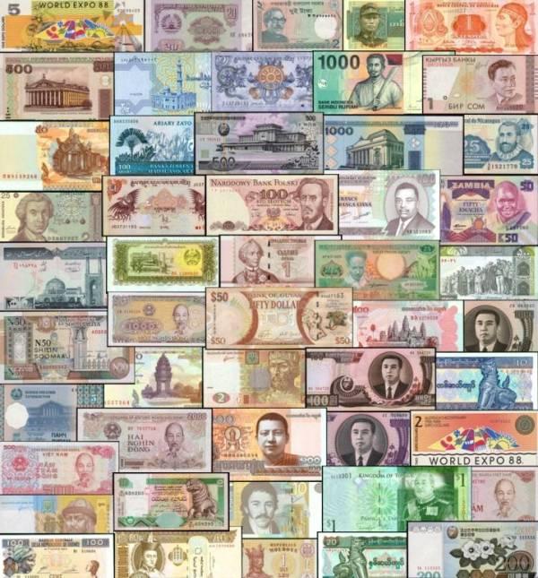 100 rôznych bankoviek svet