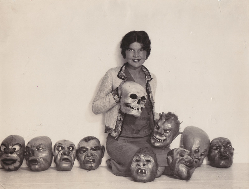 William Mortensen - Courtney Crawford with Masks, 1924