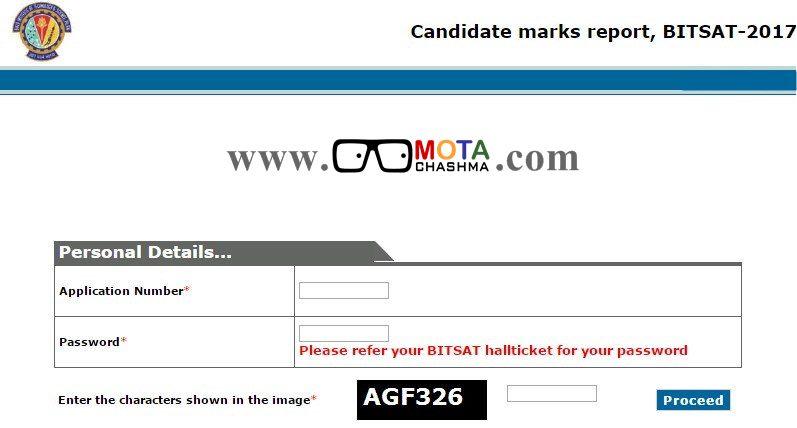 BITSAT Scorecards