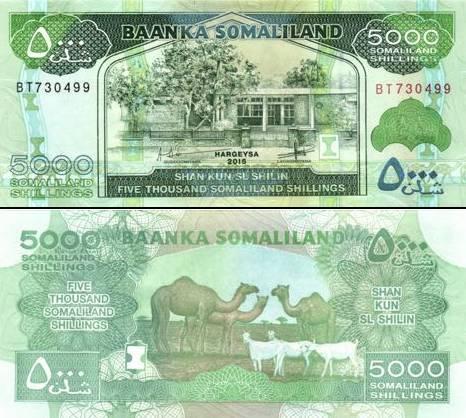 5000 Šilingov Somaliland 2015, P21c