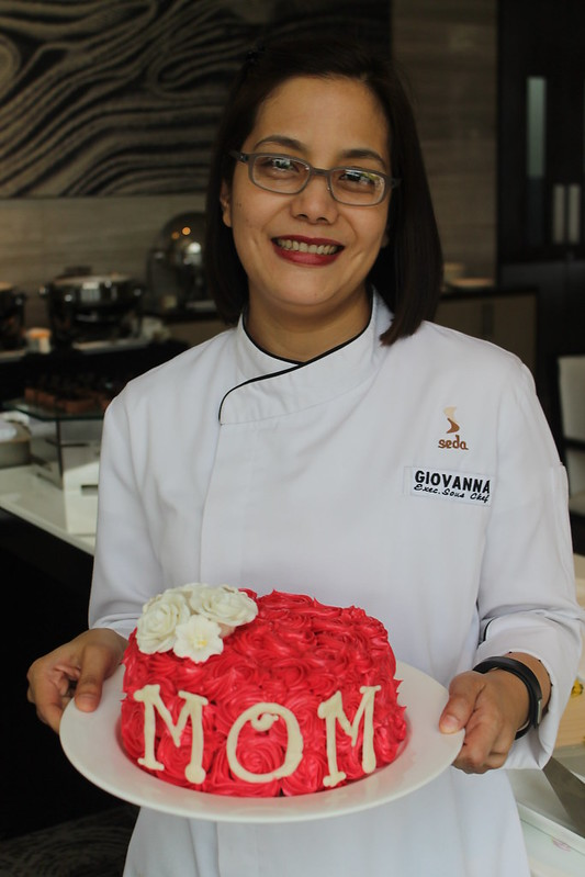Executive Sous Chef and proud Mom Giovanna Flores with one of her desserts | Blissful MOMents Only For The Best Mom at Seda Abreeza