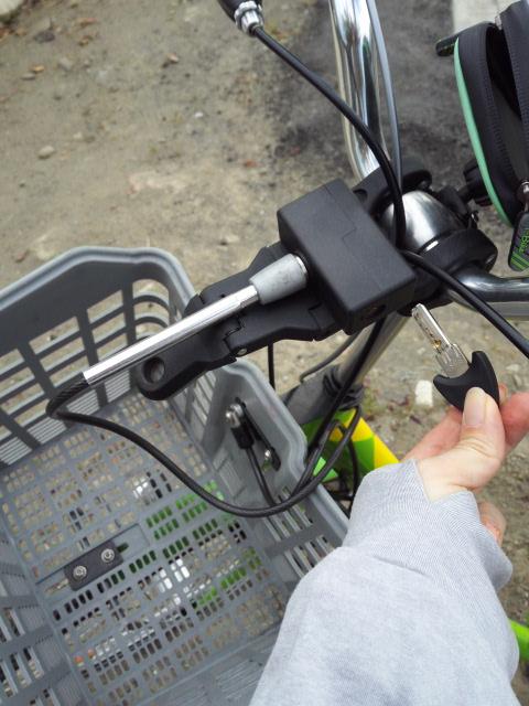 台南の自転車の鍵のかけ方