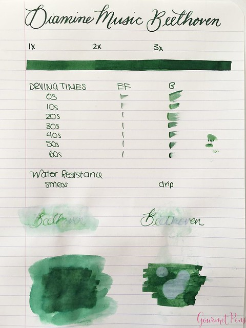 Ink Shot Review Diamine Music Beethoven @AppelboomLaren 1