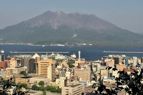 城山公園から見た桜島
