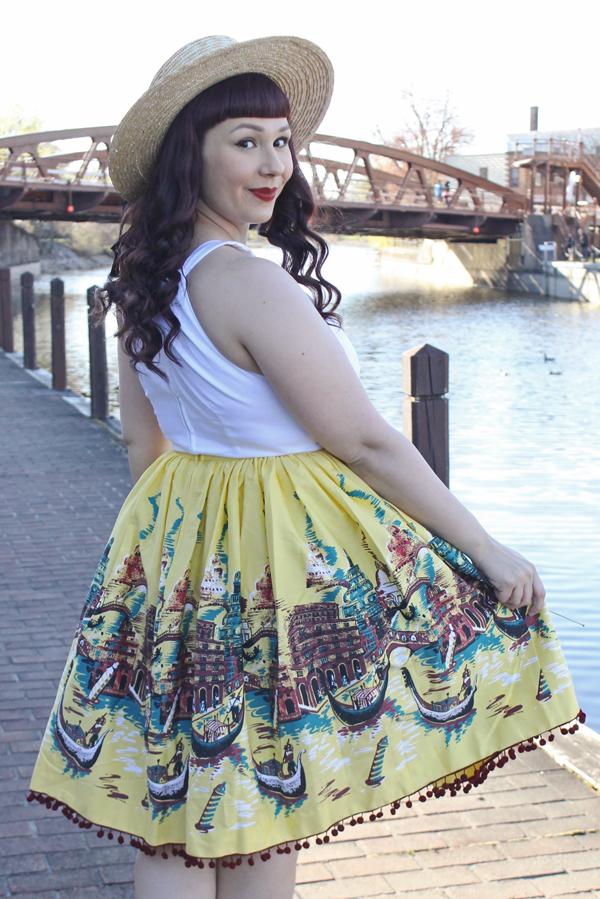 landscape print skirt