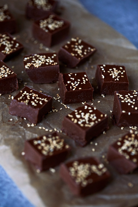 Boosted Chocolate Tahini Fudge {Gluten-free, Paleo}