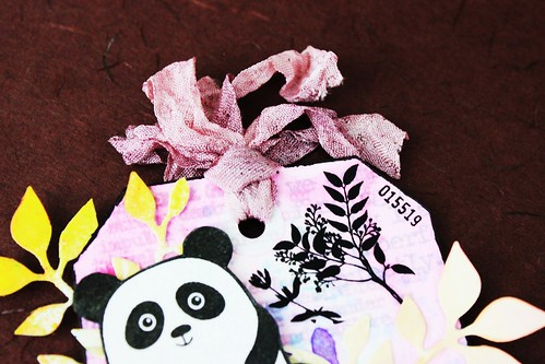 Meihsia Liu Simply Paper Crafts Mixed Media Tag Critters Panda Simon Says Stamp 3