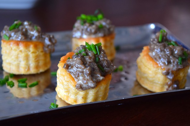 Mushroom Pate Vol-au-vents at The Gladstone, Borough | www.rachelphipps.com @rachelphipps