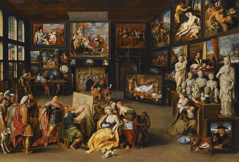 Willem van Haecht - Alexander the Great visits the studio of Apelles (c.1630)